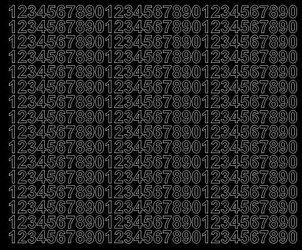 Cyfry samoprzylepne 1 cm czarne z połyskiem