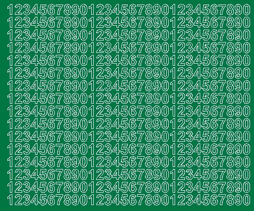 Cyfry samoprzylepne 1 cm zielone z połyskiem