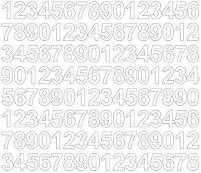Cyfry samoprzylepne 2 cm białe z połyskiem