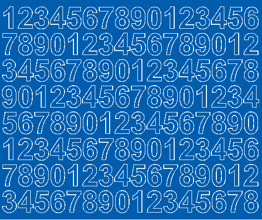 Cyfry samoprzylepne 2 cm niebieski z połyskiem