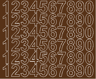 Cyfry samoprzylepne 3 cm brązowy z połyskiem