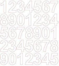 Cyfry samoprzylepne 4 cm biały matowy