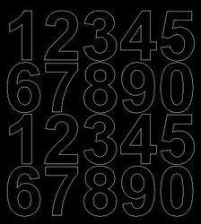 Cyfry samoprzylepne 5 cm czarny matowy