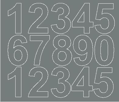 Cyfry samoprzylepne 6 cm szary matowy