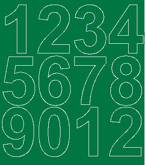 Cyfry samoprzylepne 7 cm zielone matowy