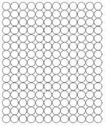 Koła grochy samoprzylepne 1.5 cm biały matowy 180 szt