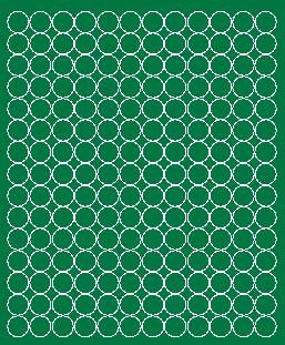 Koła grochy samoprzylepne 1.5 cm zielone matowy 180 szt