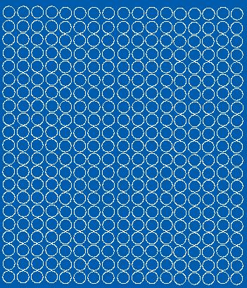 Koła grochy samoprzylepne 1 cm niebieski z połyskiem 357 szt