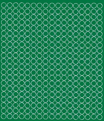 Koła grochy samoprzylepne 1 cm zielone matowy 357 szt