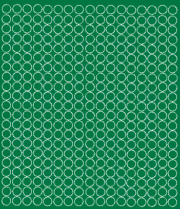 Koła grochy samoprzylepne 1 cm  zielone z połyskiem 357 szt