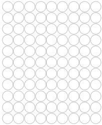 Koła grochy samoprzylepne 2 cm białe z połyskiem 99 szt