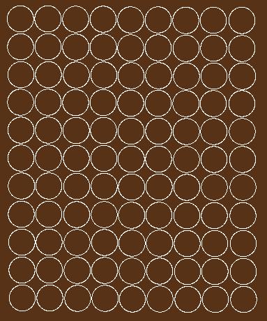 Koła grochy samoprzylepne 2 cm brązowy z połyskiem 99 szt