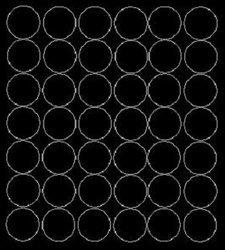 Koła grochy samoprzylepne 3 cm czarny matowy 42 szt