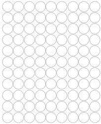 Koła grochy samoprzylepne 4 cm białe z połyskiem 99 szt