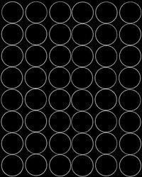 Koła grochy samoprzylepne 6 cm czarne z połyskiem 48 szt