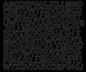 Litery samoprzylepne 1.5 cm czarny matowy