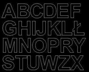 Litery samoprzylepne 4 cm czarny matowy