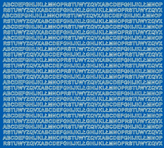 Litery samoprzylepne 5 milimetrów niebieski z połyskiem