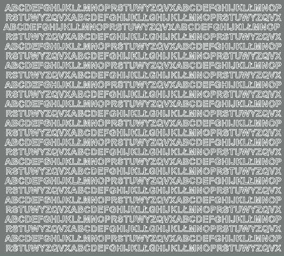 Litery samoprzylepne 5 milimetrów szary matowy