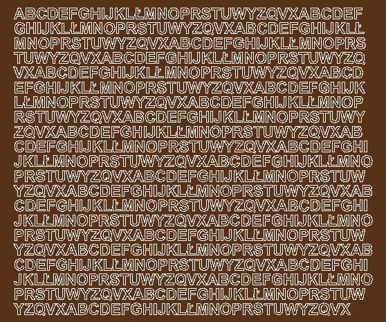 Litery samoprzylepne 7 milimetrów brązowy z połyskiem