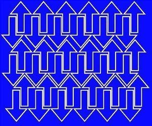 Naklejka strzałki strzałka 5x3cm 72szt niebieski matowy