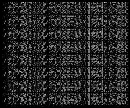 Cyfry samoprzylepne 1 cm czarny matowy
