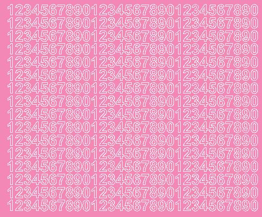 Cyfry samoprzylepne 1 cm różowy z połyskiem