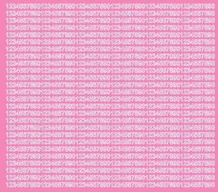 Cyfry samoprzylepne 5 milimetrów różowy z połyskiem