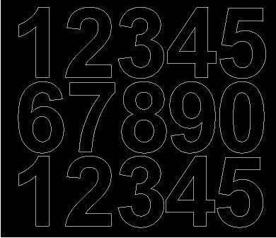 Cyfry samoprzylepne 6 cm czarne z połyskiem