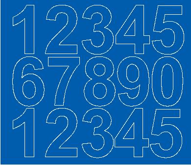 Cyfry samoprzylepne 6 cm niebieski matowy