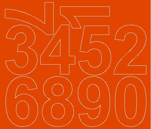 Cyfry samoprzylepne 8 cm pomarańczowy z połyskiem