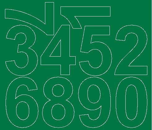 Cyfry samoprzylepne 8 cm zielone z połyskiem