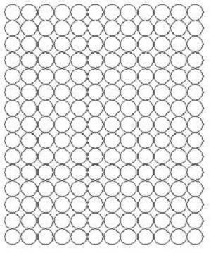 Koła grochy samoprzylepne 1.5 cm białe z połyskiem 180 szt