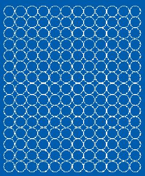 Koła grochy samoprzylepne 1.5 cm niebieski z połyskiem 180 szt