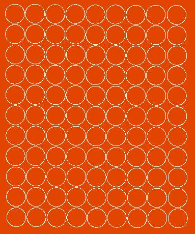 Koła grochy samoprzylepne 2 cm pomarańczowy z połyskiem 99 szt