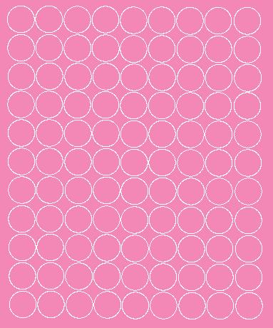 Koła grochy samoprzylepne 2 cm różowy z połyskiem 99 szt