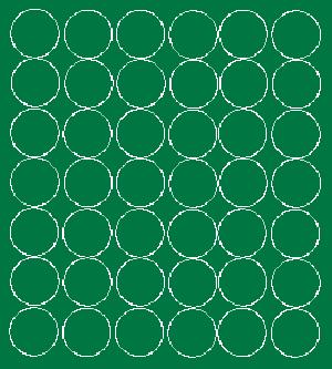 Koła grochy samoprzylepne 3 cm  zielone z połyskiem 42 szt