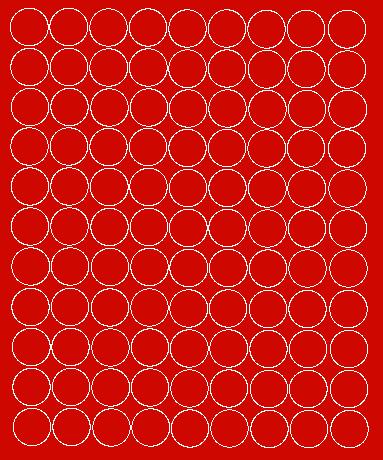 Koła grochy samoprzylepne 4 cm czerwone z połyskiem 99 szt