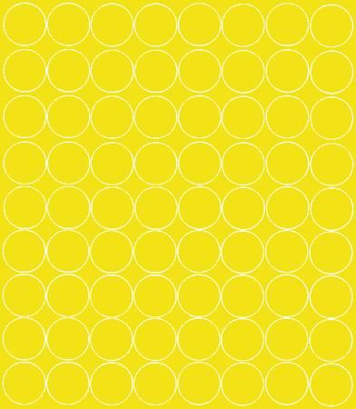 Koła grochy samoprzylepne 5 cm żółty z połyskiem 72 szt