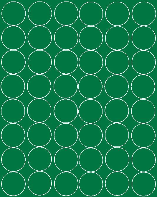 Koła grochy samoprzylepne 6 cm  zielone z połyskiem 48 szt
