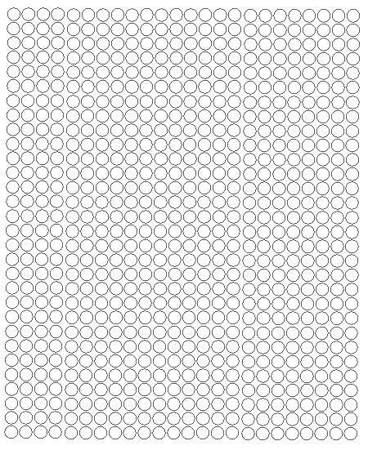 Koła grochy samoprzylepne 7 milimetrów biały matowy 720 szt