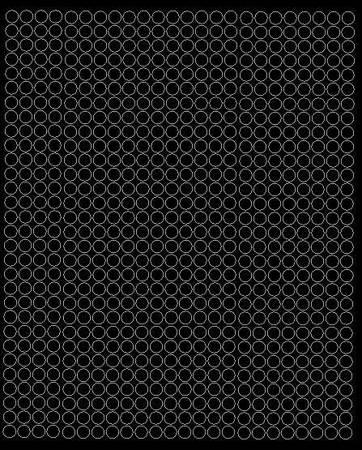 Koła grochy samoprzylepne 7 milimetrów czarny matowy 720 szt