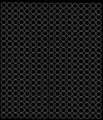 Koła grochy samoprzylepne1 cm czarny matowy 357 szt