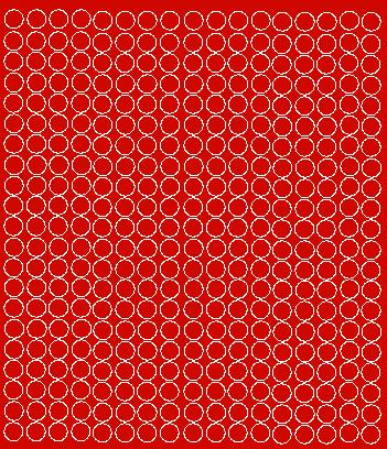 Koła grochy samoprzylepne1 cm czerwone matowy 357 szt