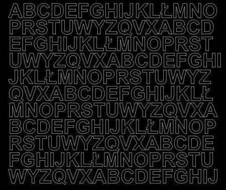Litery samoprzylepne 1.5 cm czarne z połyskiem