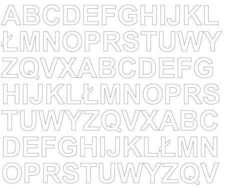 Litery samoprzylepne 2 cm biały matowy