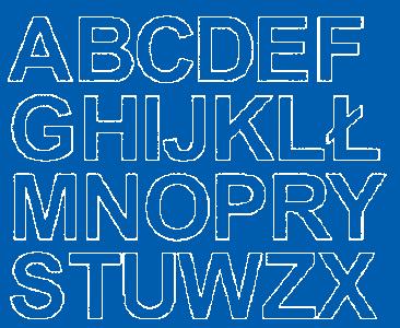 Litery samoprzylepne 4 cm niebieski matowy