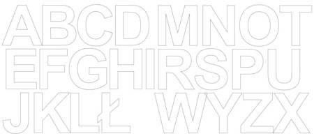 Litery samoprzylepne 6 cm biały matowy